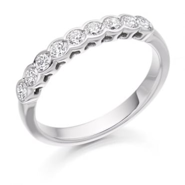 Round Brilliant Cut .50ct Half Eternity Ring HET2388