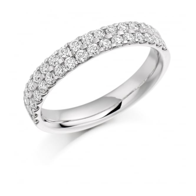 Round Brilliant Cut .75ct Half Eternity Ring HET1017