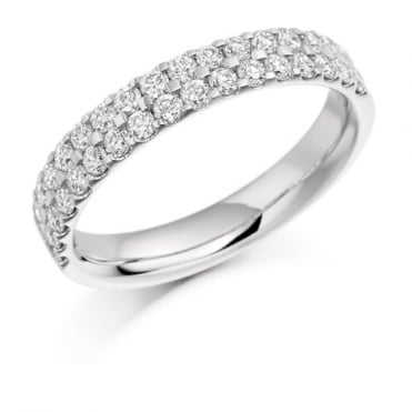 The Raphael Collection Round Brilliant Cut .75ct Half Eternity Ring HET1017