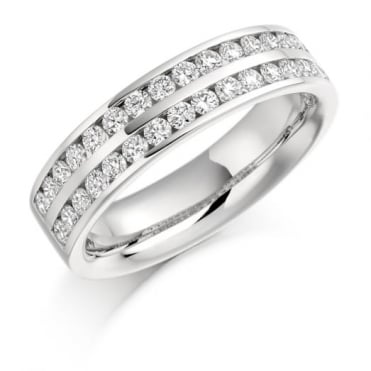 The Raphael Collection Round Brilliant Cut .75ct Half Eternity Ring HET1077