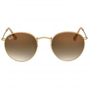 99095d392 Half Rim Round Sunglasses in Gold Black RB3578 187/11 50 ...