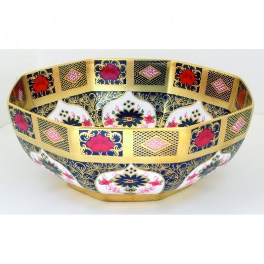 Royal Crown Derby Old Imari Octagonal Bowl SGGBOX 09509