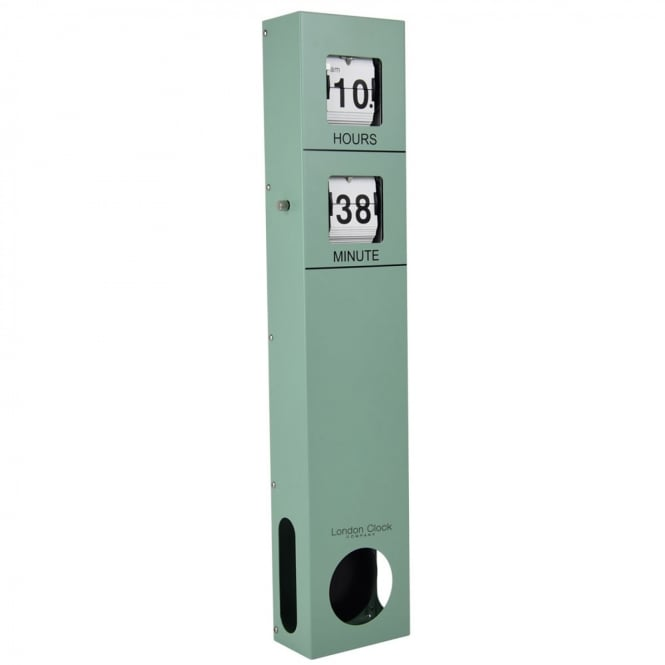Sage Green Flip Pendulum Wall Clock 02126