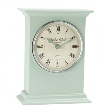 Sage Green Mantel Clock 03099