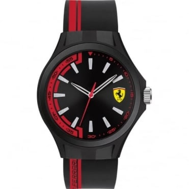 Scuderia Ferrari Black & Red Rubber Pit Crew Watch 0830367