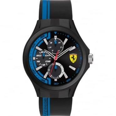 Scuderia Ferrari Men's Black & Blue Pit Crew Watch 0830368