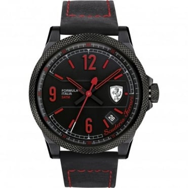 Scuderia Ferrari Men's Black Ion Plate Watch 0830271