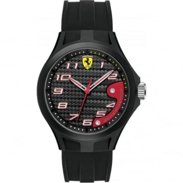 Scuderia Ferrari Men's Black Rubber Lap Time Watch 0830288