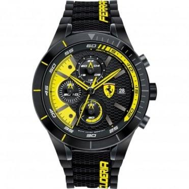 Scuderia Ferrari Men's Black Rubber Strap Watch 0830261