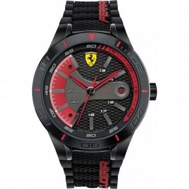 Scuderia Ferrari Men's Black Rubber Strap Watch 0830265