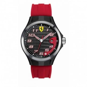 Scuderia Ferrari Men's Carbon Coated Steel Lap Time Watch 0830014