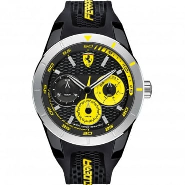 Scuderia Ferrari Men's S/Steel Black Rubber Strap Watch 0830257