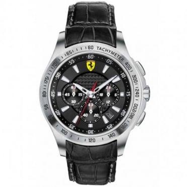 Scuderia Ferrari Men's Stainless Steel Chronograph Watch 0830039
