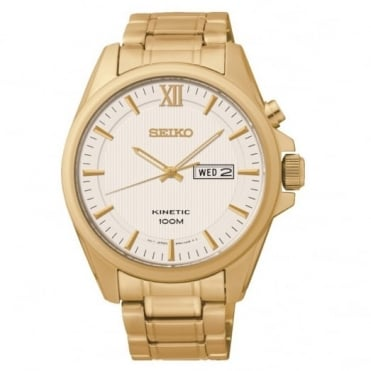 Seiko Gent's Gold Plated Kinetic Watch SMY158P1