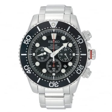 Seiko Gent's Prospex S/Steel Solar Chrono Divers Watch SSC015P1