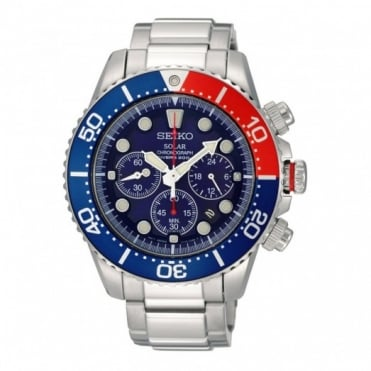 Seiko Gent's Prospex S/Steel Solar Chrono Watch SSC019P1