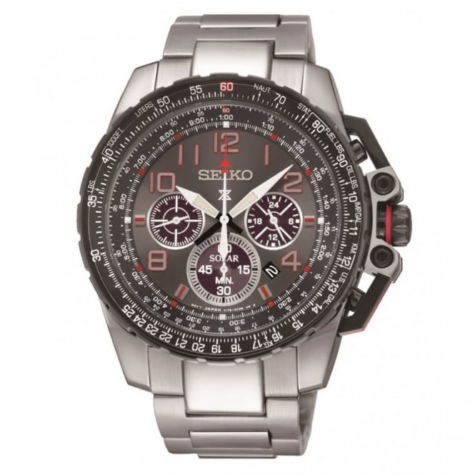 gent 39 s prospex s steel solar chrono watch ssc315p9. Black Bedroom Furniture Sets. Home Design Ideas