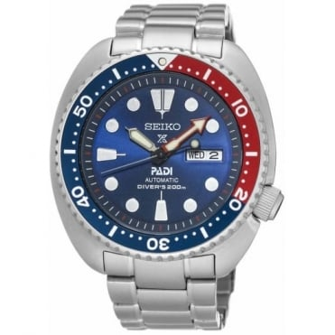 Gent's S/Steel Automatic Prospex Padi Turtle Watch SRPA21K1