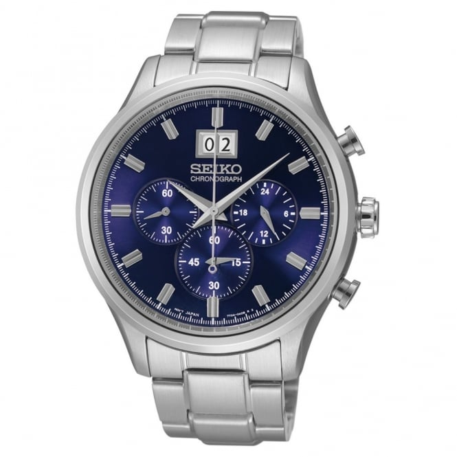 Seiko Gent's S/Steel Chronograph Watch SPC081P1