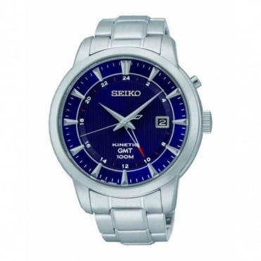 Seiko Gent's S/Steel Kinetic GMT Watch SUN031P1