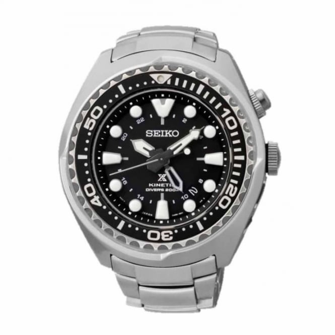Gents S/Steel Prospex Kinetic GMT Watch SUN019P1