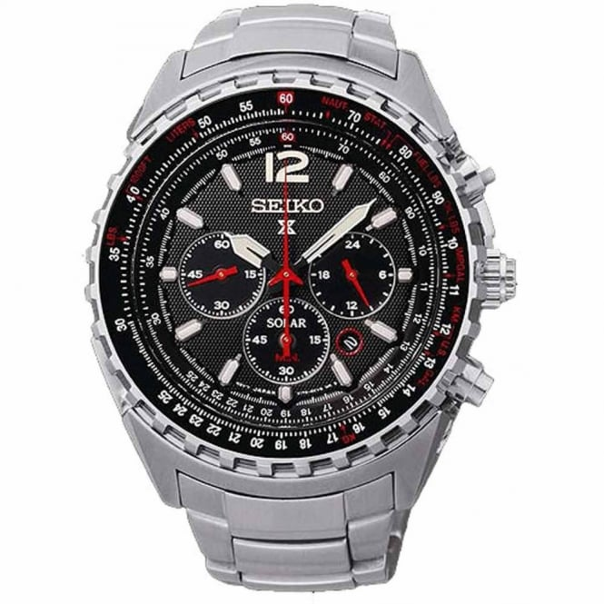 Seiko Gent's S/Steel Prospex Solar Chrono Watch SSC261P1