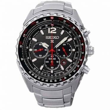 Seiko Gent's S/Steel Prospex Solar Chrono Watch SSC261P1