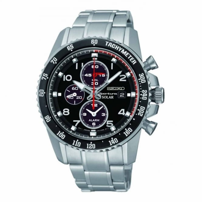 Gent's S/Steel Solar Chrono Sportura Watch SSC271P9
