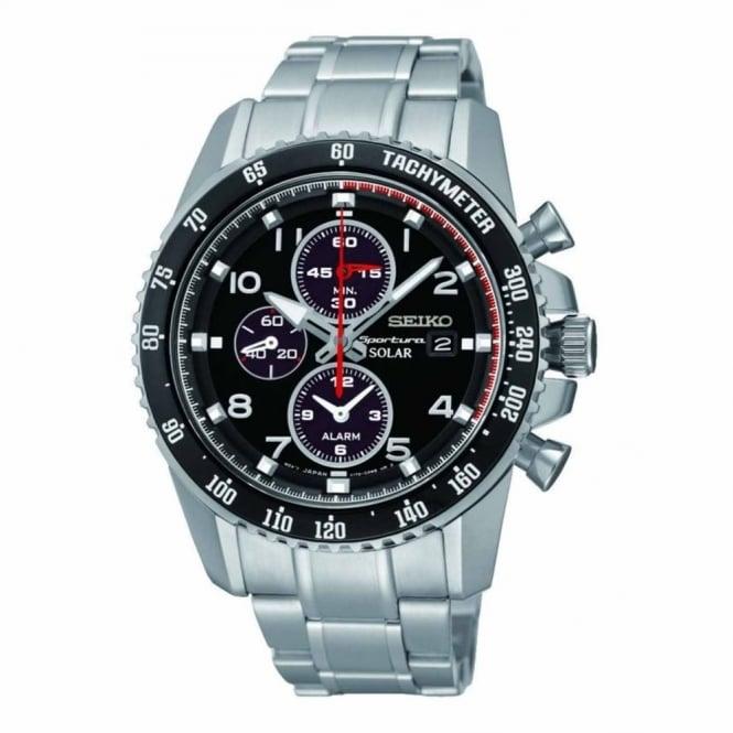 Seiko Gent's S/Steel Solar Chrono Sportura Watch SSC271P9