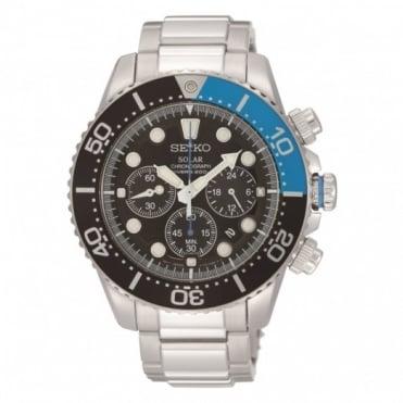 Seiko Gents S/Steel Solar Chronograph Watch SSC017P1