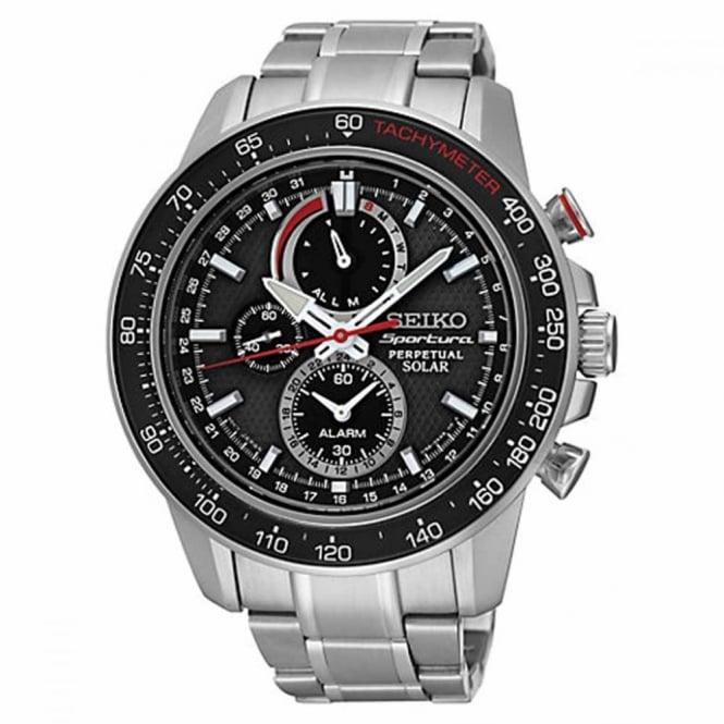 Seiko Gent's S/Steel Sportura Perpetual Chrono Solar Watch SSC357P1