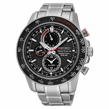 Seiko Gent's S/Steel Sportura Perpetual Chrono Solar Watch SSC357P1