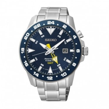 Seiko Gents Sportura GMT Kinetic Watch SUN017P1