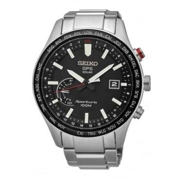 Seiko Gent's Stainless Steel Sportura GPS Solar Watch SSF003J1