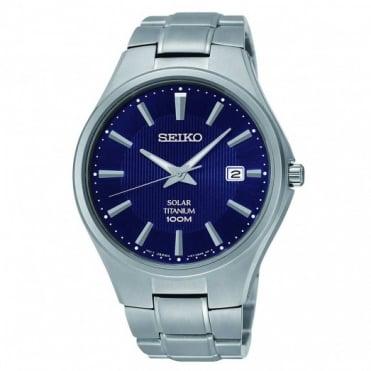 Seiko Gent's Titanium Solar Powered Watch SNE381P9