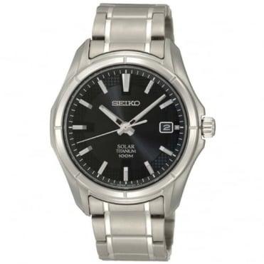 Seiko Gent's Titanium Solar Watch  SNE141P1