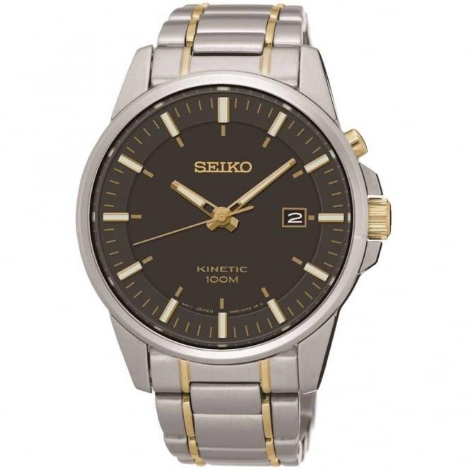 Seiko Gent's Two Tone Kinetic Watch SKA735P1