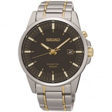 Seiko Gent's Two Tone Kinetic Watch SKA735P1