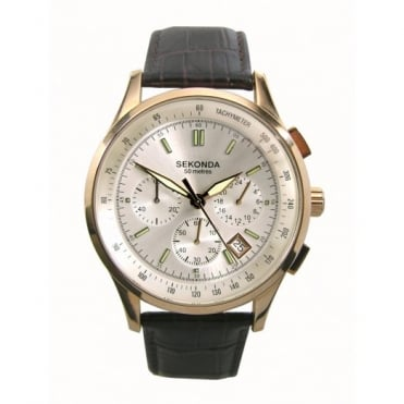 Sekonda Gent's Rose Chronograph Watch 3847