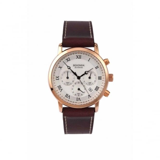 Sekonda Gent's Rose Plate Chronograph Watch 1014