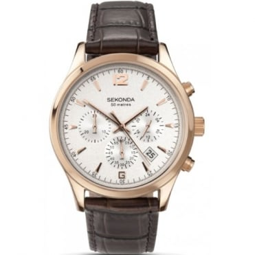 Sekonda Gent's Rose Plate Chronogrpah Watch 3488