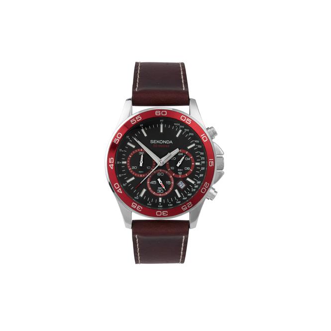 Sekonda Gent's S/Steel Chronograph Watch 1015