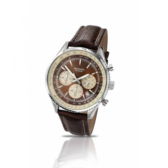 Gent's S/Steel Chronograph Watch 3407