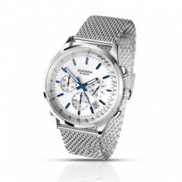 Sekonda Gent's Stainless Steel Chronograph Watch 3414