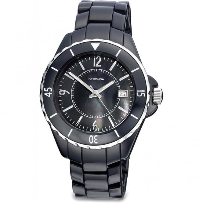 Ladies Black Plastic Watch 4170