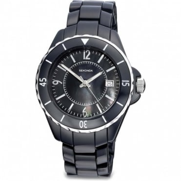 Sekonda Ladies Black Plastic Watch 4170