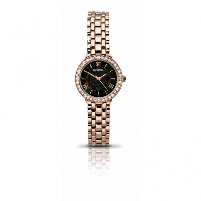 Sekonda Ladies Rose Plate Stone Set Watch 2148