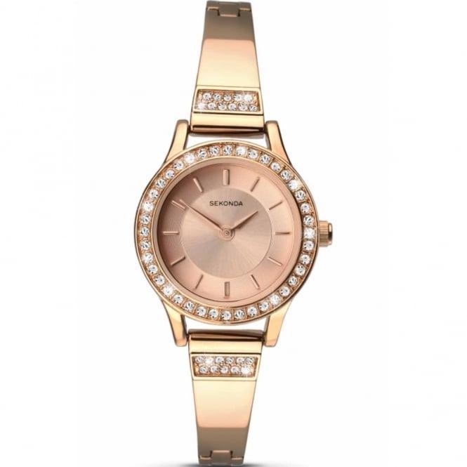 Sekonda Ladies' Rose Plate Stone Set Watch 2203