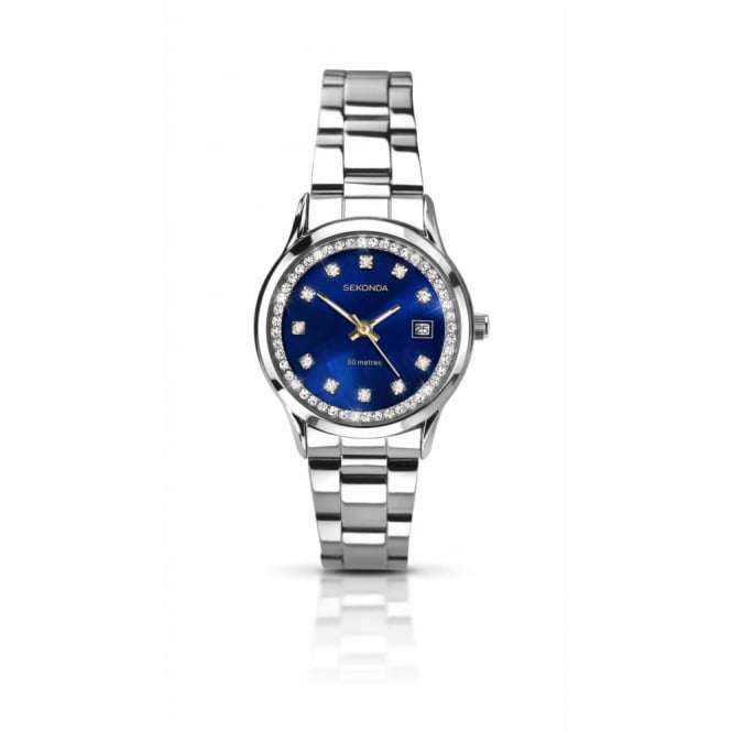 Ladies S/Steel Stone Set Watch 2147