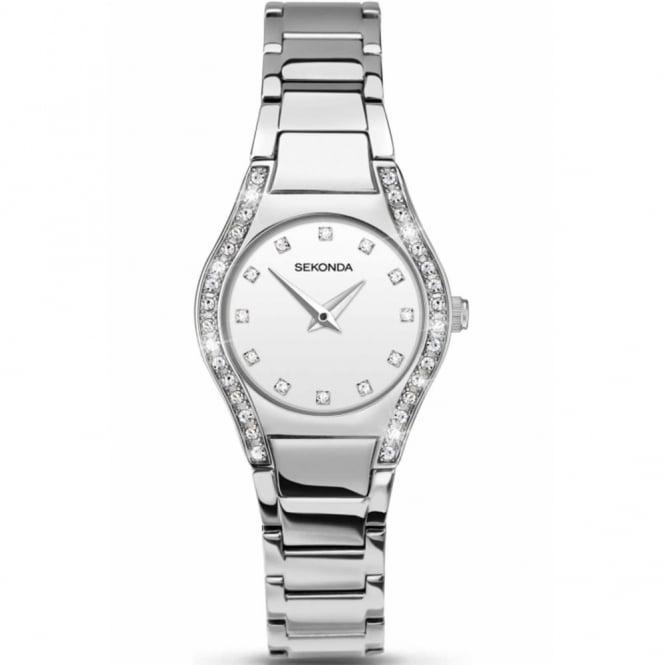 Sekonda Ladies' S/Steel Stone Set Watch 2199